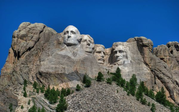 Mount Rushmore: One of the few places in the US you currently do NOT see the President's face.