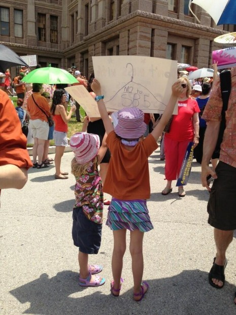 children protest