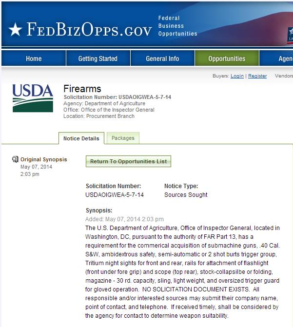 Firearms   Federal Business Opportunities  Opportunities
