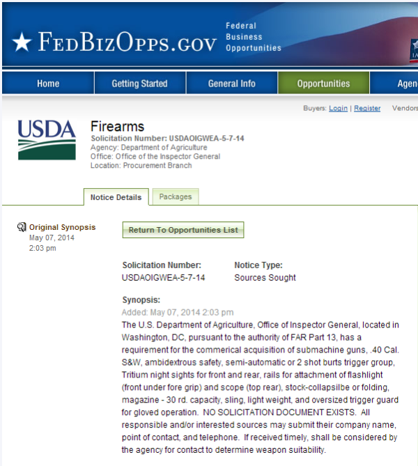 Firearms   Federal Business Opportunities  Opportunities