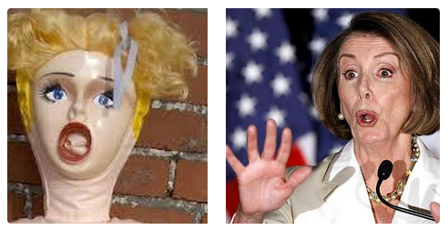 pelosi vs blowup doll