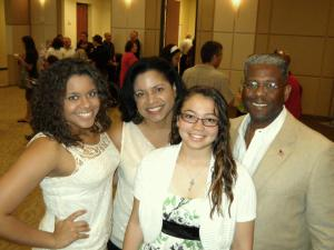 Congressman Allen West, Dr Angela Graham-West and family