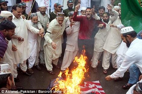 islam burn flag