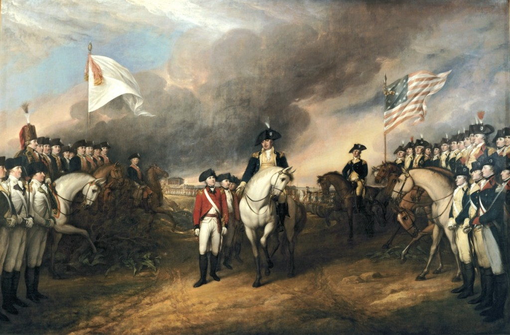 Pictured: Washington bravely trades 5 Hessian leaders to save Benedict Arnold.
