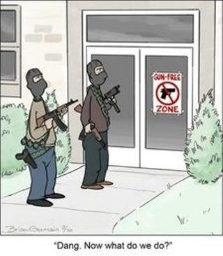 How Liberals Think Gun Free Zones Work