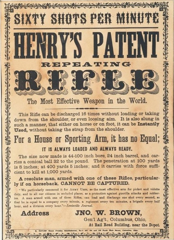 Henry Rifle Advertisment